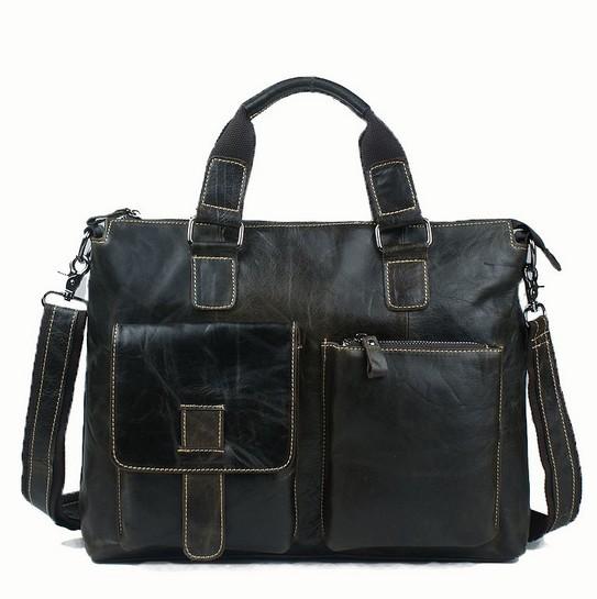 100% Genuine leather men Bag handbag shoulder tote bags leather men's travel bags business laptop handbags briefcase new 2015(China (Mainland))