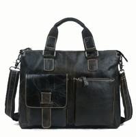 100% Genuine leather men Bag handbag shoulder tote bags leather men's travel bags business laptop handbags briefcase new 2015