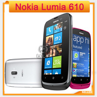 Holiday Sale Unlocked 610 Original Nokia Lumia 610 Windows Mobile Phone 8GB Storage Camera 5.0MP GPS Wifi 3G Smart Phone