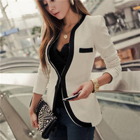 2014 New Fashion Slim Fit Women Office Ladies OL Shoulder With Pads Suit Blazer Outwear S,M,L,XL White,Black