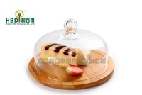 Classic Glass cheese dome with bamboo board,Cake boards with dome,cheese board berkeley,Free Shipping G1103