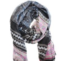 Newest Fashion Aztec Scarf women Long Voile Tribal accessories black wholesale retail 1pcs/lot