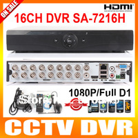 16ch 960H Full D1 Real time Recording playback with HDMI 1080P Output 16ch Hybrid dvr NVR Onvif CCTV DVR Recorder