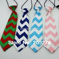 green stripe Chevron ties baby neck ties, kids boys girls ties christmas tie boy necktie children accessories wholesale