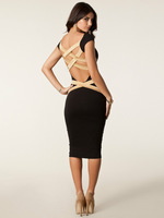 2014 wholesale dress  cheap  sexy halter dress Slim cross strap dress | clubwear | sexy lingerie   -038
