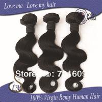 FREE SHIPPING & CHEAP PRICE 50g/pc 3pcs lot QUEEN HAIR Brazilian human hair body wave hair extension