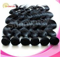 Sunnymay Top Grade 6A Human Hair 20 Inch Human Hair Wavy 100% Malaysia Virgin Hair No Shedding No Tangle  Machine Made Weft
