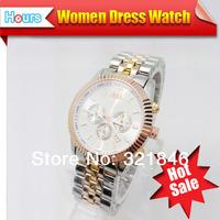 New 2014 Women Dress Watches Rose Gold Brand Watch Women Rhinestone Watches Men Full Steel Watches Men Luxury Brand Clock Item