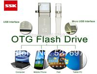 Brand SSK SFD236 Mobile OTG USB Flash Drive 32GB micro USB Flash For Samsung HTC LG Sharp Lenovo Android Smart Phone Pad Tablet