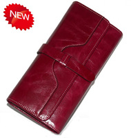 Excellent Quality !! Design Wallet Women Fashion Long Genuine Leather Wallet Cowhide Purse Clutch Free Shipping  VC2013