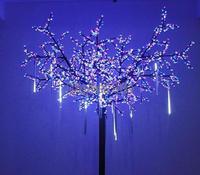 NEW Christmas 50CM Meteor Shower Rain Tubes LED christmas Garden Decoration Romantic String Light 100-240V/EU White B16 TK1325