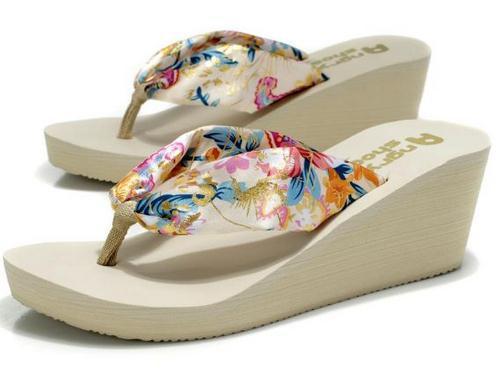 Free Shipping Summer platform sandals female wedges female slippers flip flops platform slippers female sandals slippers(China (Mainland))