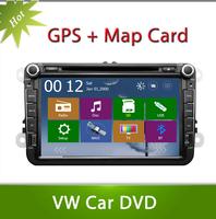 2din DVD For Volkswagen VW  POLO PASSAT CC JETTA TIGUAN TOURAN Bora  GOLF 5 6 4 Fabia Superb GPS