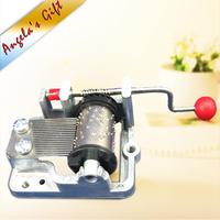 Hand Crank music box movements diy musical box mechanism,christmas/birthday gifts,wedding souvenir gift free shipping
