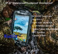 original S15 Shockproof Android 4.2 PTT Radio Walkie talkie MTK6589 Quad Core IP68 rugged Waterproof phone GPS 3G NFC Runbo S19