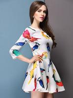 Elegant Dress Evening For Women Celebrity Patchwork Mini Dress New Spring 2014 Women Summer Casual Dresses