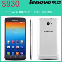 "Original Lenovo S930 phone MTK6582 1.3GHz Quad Core 6.0"" IPS Screen 8Mp Camera 3G Android 4.2  Dual sim Russian Multi language"