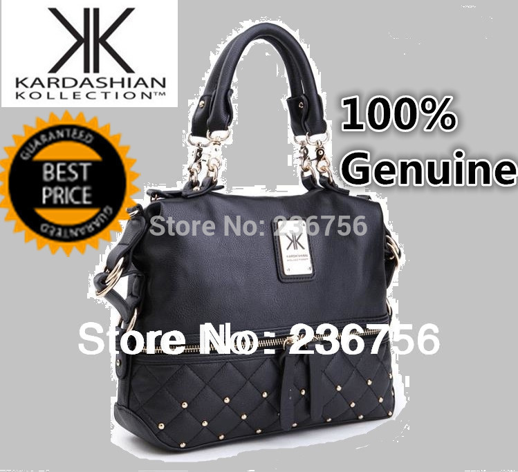 Bolsas Hot Sale 2014 Kim Kardashian Kollection Handbag/ Authentic Kk Tote/shoulder Bag with Medal Logo And Embossing Kk-hb-1s(China (Mainland))