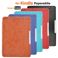 Kindle Paperwhite Leather Case Slim Smart PU Leather Cover Case For Amazon Kindle Paperwhite+Screen Protector Free Shipping