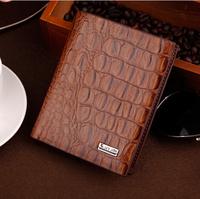 2014 NEW Crocodile men's wallet short purse fashion Horizontal purse exquisite Business wallet Free shipping