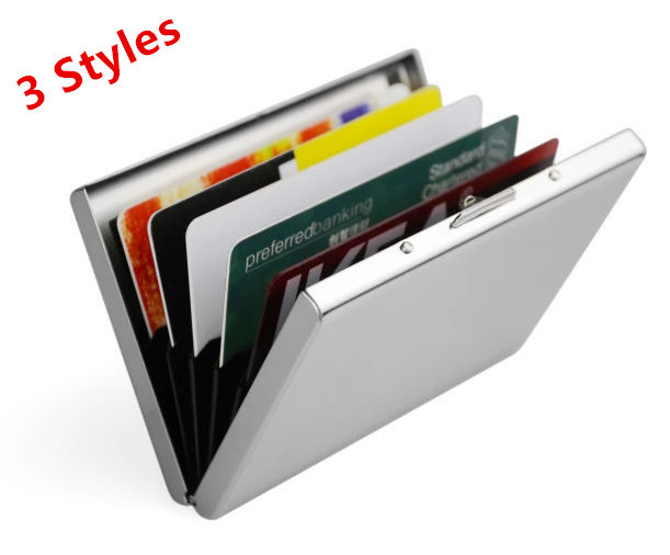 New 2014 candy color men password stainlees stell metal plastic + aluminium credit card holder Waterproof men wallets case box(China (Mainland))