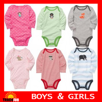 5pcs \lot Carters baby bodysuits  100% cotton 3-24month  carters baby girl  & boy  bodysuit  free shipping