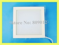 new style with glass square recessed LED panel light lamp 18W LED ceiling light SMD5730 18W 36 led high brightness free shipping