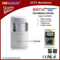 "Free shipping!800tvl 1/3"" Panasonic Color HD CCD, 960H Surveillance Camera PIR Style with 18pcs leds"