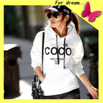 Plue Size !Hot sale! Women's Hooded Sweatshirts Outwear COCO Hoodies Women Ladies fashion cartoon Coat Winter clothes S,M,L,XL(China (Mainland))