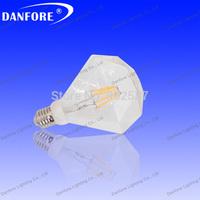 New Arrival 6pcs/lot 6w 600lm 360 Degree E27/E26 clear LED Bulb Light ,LED Filament bulb ,led decocative light,diamond lamp