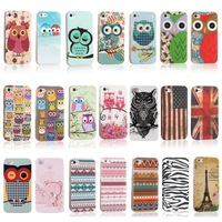 Cute Rilakkuma Bear Polka Dots Owl Flag TPU IMD Silicon Hard Protective Phone Cases Bags for iPhone 4s Case iPhone 4 Cover Skin