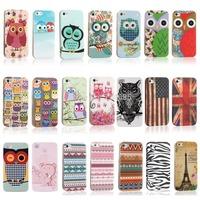 Fashion Cute Rilakkuma Bear Polka Dots Owl Flag TPU IMD Silicon Hard Phone Cases Bags for iPhone 4s Case iPhone 4 Cover Skin