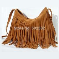 New 2014 Women's Hot sale Suede Fringe Handbags  women's fashion Tassel Shoulder Bag messenger bags Handbags HS-5-L10