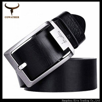 2014 new fashion 70% cow leather +30% Fiber belts for Men and Women,13 style brown black color pin buckle,good quality PY723