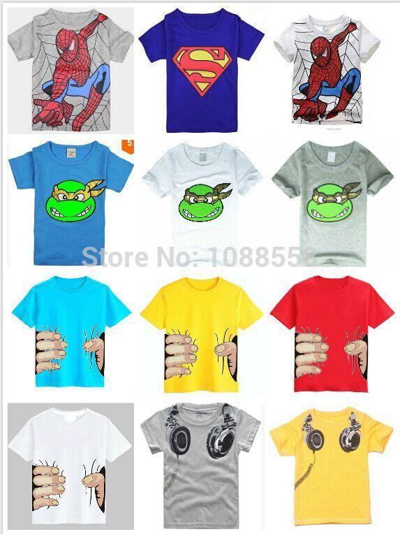 HOT 2015 New!children clothes boys girls unisex t shirt cartoon children t-shirts, cotton children's t-shirt(China (Mainland))