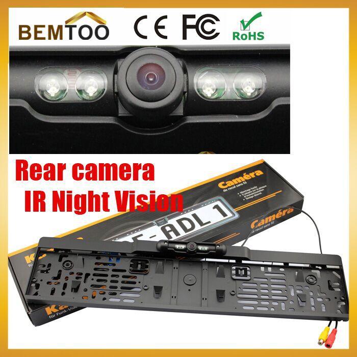 Free Shipping,Rear View Camera European License Plate Night Vision For Rear View Camera ,parking camera(China (Mainland))