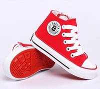 Three Color Size25-37 Children Sneakers Children Canvas Shoes  Girl Boy Student Shoes Brand Shoes 2014 New Spring Shoe