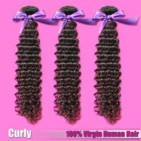 EVAS Hair Products Free Shipping 3pcs/lot Malaysian Virgin Hair Afro Kinky Curly Deep Wave Malaysian Human Hair Extensions