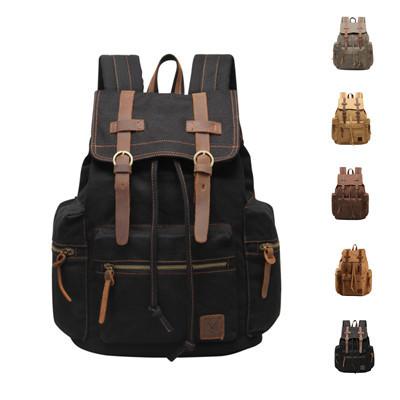 VEEVAN backpack canvas leather men's backpacks high quality women backpack brand designer men's travel bags laptop school bag(China (Mainland))
