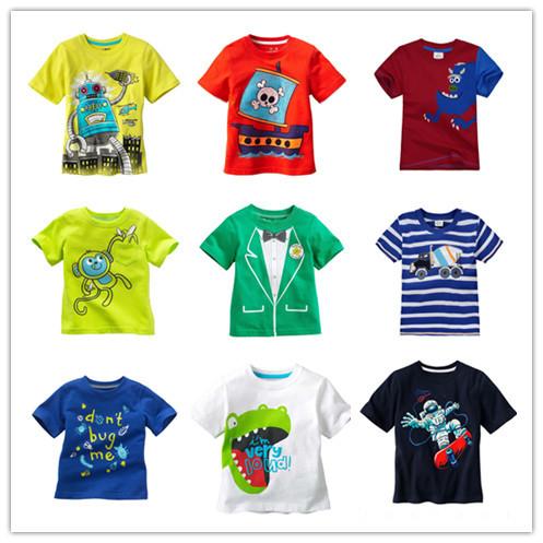 Summer boys Short Sleeve T-shirt Baby boy shirts Kids Clothes Children Tees 100% Cotton Cartoon Brand designer Free shipping(China (Mainland))