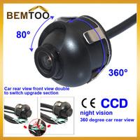 CCD HD night vision 360 degree car rear view camera reversing parking camera, Free Shipping