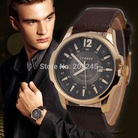 Curren Relogio Masculino Men Sport Watches Casual Quartz Watch Leather Strap Wristwatch New Fashion Men Business Watch