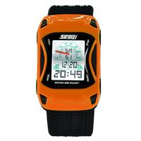 Skmei Brand LED Digital Watch Car Cartoon Style Fashion Jelly Silicone Kids Watches Waterproof Sports Children Wristwatches