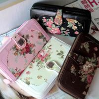new fashion lady women long flower Retro purse wallet handbag mobile phone bag