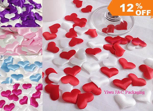 FREE SHIPPING--1000pcs Wedding Table Decoration Heart, DIY Party Decoration,Fabric Heart (JCO-H01)(China (Mainland))