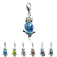 Floating Charms origami owl silver pendants Fashion owl charms jewelry floating locket necklaces  pendants DZ3246