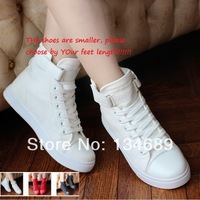 hot selling sneakers for women brand new 2014 shoes woman platform casual fashion cheap thick heel solid black red white