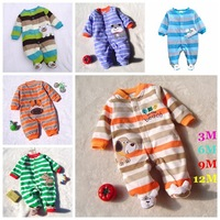 High Quality Fleece Body Baby Boy Romper Cartoon Kid Jumper Bebe Overall for Infants 2014 Fall New Born Clothes Toddler Clothing