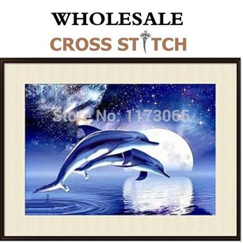 Рукоделие, Сделай сам DMC вышивка крестом, Комплект для вышивания, Точная дельфин завод прямых продаж счетный кросс-колющие