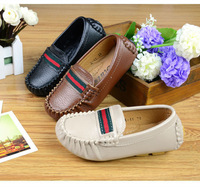 Children Shoes Boy Child Shoes Gommini Kids Loafers PU leather Beige/Black/Brown size 21-35